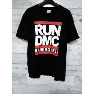 限定①点☆ RUNDMC ★ ビッグロゴ Tシャツ ★ HipHop ブラック(Tシャツ/カットソー(半袖/袖なし))