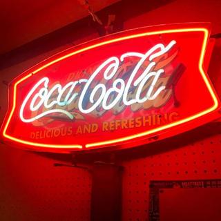 コカコーラ ネオンサイン Coca-Cola 看板 ネオンライト フィッシュ型