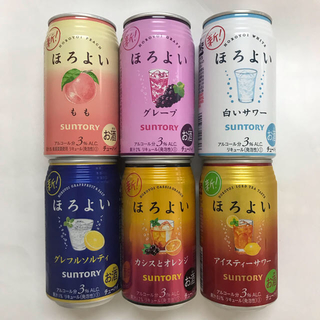 サントリー(サントリー)のほろよい 6缶セット +限定缶1本(その他)