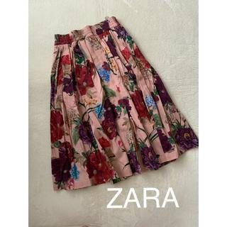 ZARA - ZARA 花柄 スカート