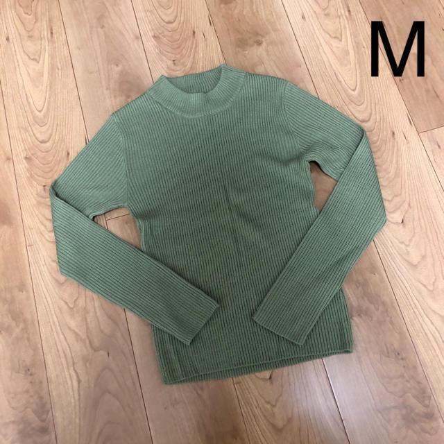 しまむら(シマムラ)のしまむら 薄手ニット カーキ M レディースのトップス(ニット/セーター)の商品写真