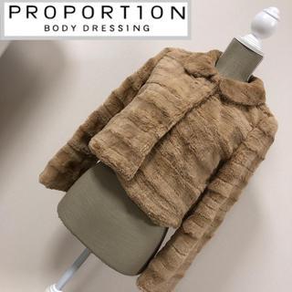 プロポーションボディドレッシング(PROPORTION BODY DRESSING)のプロポーション フェイクファーコート モカブラウン(毛皮/ファーコート)