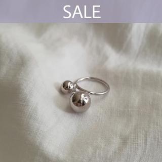 Ungrid - 【数量限定SALE】925 ballcross ring * ラスト1点!
