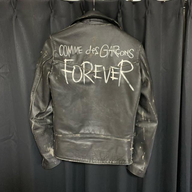 Lewis Leathers(ルイスレザー)の最終値下げ ルイスレザーコムデギャルソン lewis lether  32 メンズのジャケット/アウター(ライダースジャケット)の商品写真