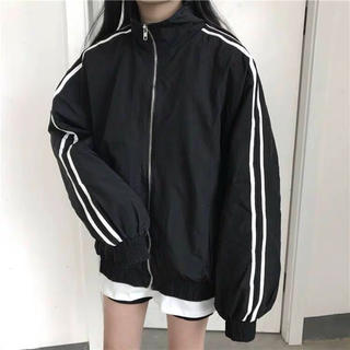 dholic - スポーツミックス ジャケット ナイロンジャケット オーバーサイズ  黒