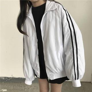 dholic - スポーツミックス ジャケット ナイロンジャケット オーバーサイズ  白