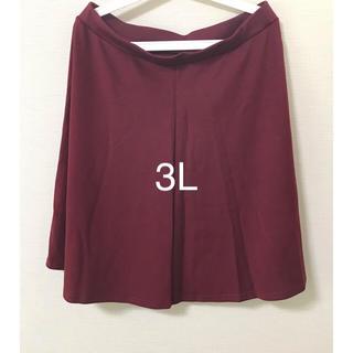 ニッセン(ニッセン)の新品、未使用品☆3L☆スカート☆エンジ色(ひざ丈スカート)