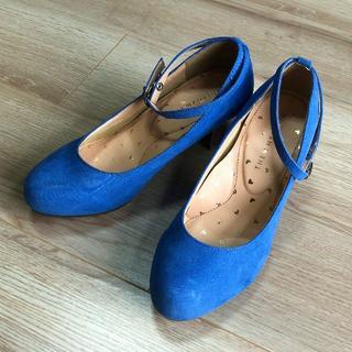 THE EMPORIUM - THE EMPORIUM★ブルーがきれいな3WAYパンプス22.5 美品