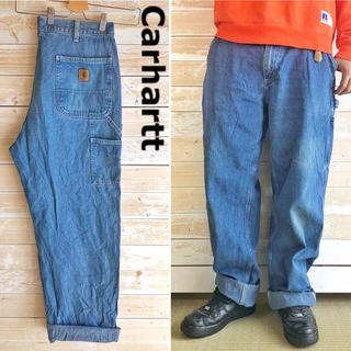 carhartt - 〈レア〉カーハート◆メキシコ製 色落ちグッド デニム ペインター パンツ 90s
