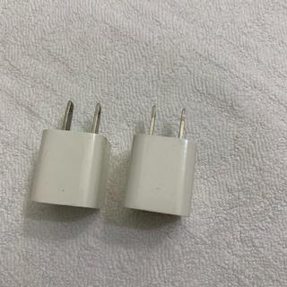 アイフォーン(iPhone)の純正 iPhoneプラグ2つ 傷あり(変圧器/アダプター)