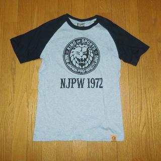 しまむら - Mサイズ 新日本プロレス ラグランTシャツ 灰色