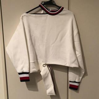 トミーヒルフィガー(TOMMY HILFIGER)のトミーヒルフィガー コラボ変形トップス ウールスエット(Tシャツ(長袖/七分))
