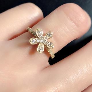 ☆人気桜0.45ctキラキラダイヤモンドK18リング(リング(指輪))