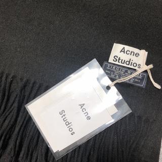 アクネ(ACNE)のAcne 旧タグ ブラック 未使用(マフラー/ショール)