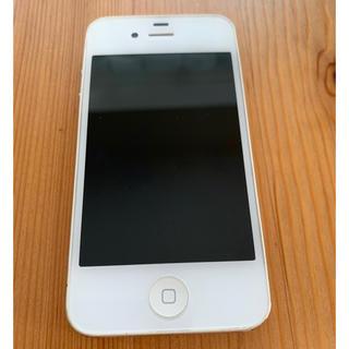 アイフォーン(iPhone)のiPhone 4s White 8 GB SIMフリー 初期化済み 充電ケーブル(スマートフォン本体)