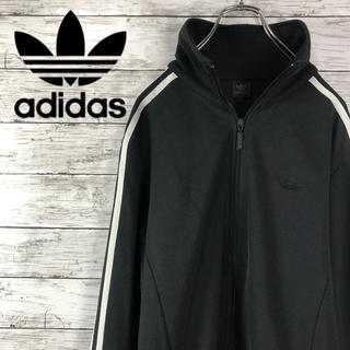 adidas - 古着 adidas アディダス トラックジャケット ジャージ 黒 スリーライン