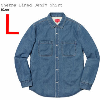 Supreme - L Supreme Sherpa Lined Denim Shirt