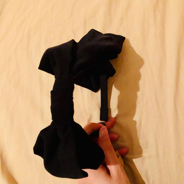 BEAMS(ビームス)のbeams☆ビームス☆黒カチューシャ☆リボンカチューシャ レディースのヘアアクセサリー(カチューシャ)の商品写真