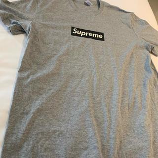 シュプリーム(Supreme)のsupreme ボックスロゴ グレー(Tシャツ/カットソー(半袖/袖なし))