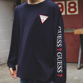 GUESS - 【SALE】[M]GUESS〈ゲス〉【ロングスリーブロゴビッグTシャツ】