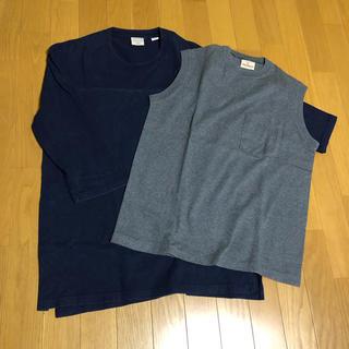 ジャーナルスタンダード(JOURNAL STANDARD)のGood wear グッドウェア 七分T ネイビー M ノースリーブ L セット(Tシャツ/カットソー(半袖/袖なし))