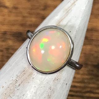 niko様♡ エチオピアオパール  シルバー925 リング 12号 スピネル(リング(指輪))