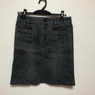 ミッシェルクラン(MICHEL KLEIN)のデニムスカート。(ひざ丈スカート)