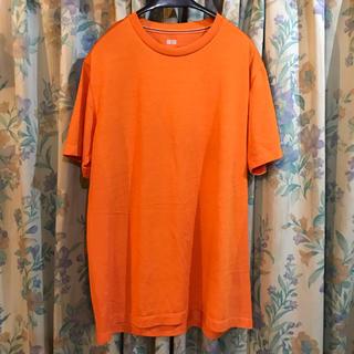 ユニクロ(UNIQLO)のUNIQLO オレンジ メッシュTシャツ(Tシャツ/カットソー(半袖/袖なし))