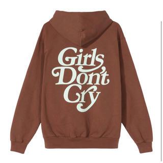 GDC - Girls Don't Cry  LOGO HOODY BROWN Lサイズ
