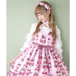 Angelic Pretty - 【新品】Strawberry Dollジャンパースカート&カチューシャ(ピンク)