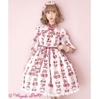 Angelic Pretty - 【新品】Strawberry Dollワンピース&カチューシャ(シロ)