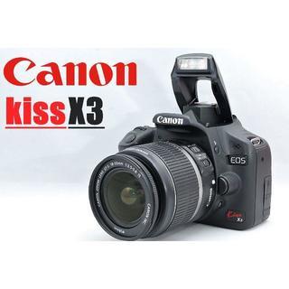 Canon - 人気のコンパクトボディ♪ Canon キャノン Kiss X3 レンズセット