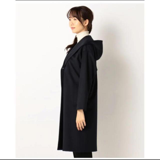 Calvin Klein(カルバンクライン)のカルバン・クライン ウールカシミヤコーティング フード付きコート レディースのジャケット/アウター(ロングコート)の商品写真