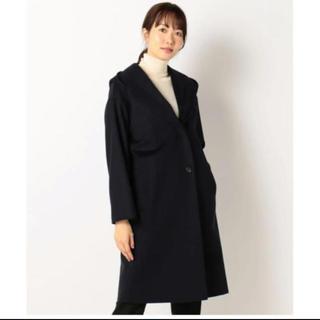 Calvin Klein - カルバン・クライン ウールカシミヤコーティング フード付きコート