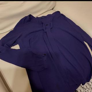 シップス(SHIPS)の10PECO⭐︎様専用  シップス  シャツ  紫(シャツ/ブラウス(長袖/七分))