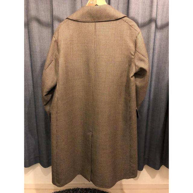 COMOLI(コモリ)の18AW AURALEE DOUBLE FACE CHECK LONG COAT メンズのジャケット/アウター(ステンカラーコート)の商品写真