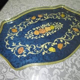 アクタス(ACTUS)のドマン Demain イタリア製 トレイ お花のお盆 象嵌細工 ヴェルサイユ宮殿(テーブル用品)