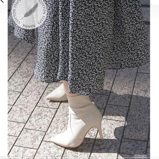 ランダ(RANDA)のRANDA♡ ポインテッドトゥストレッチショートブーツ(ブーツ)