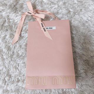 ミュウミュウ(miumiu)のmiumiuショップ袋(ショップ袋)