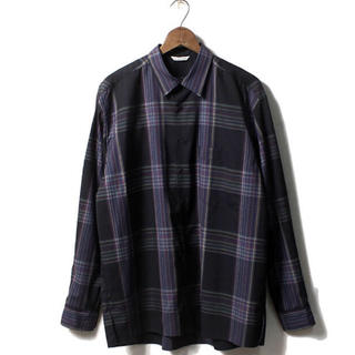 COMOLI - auralee super light wool check shirts