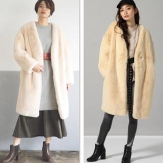 JEANASIS - 新品タグ付き☆JEANASIS ボリュームファーノーカラーコート