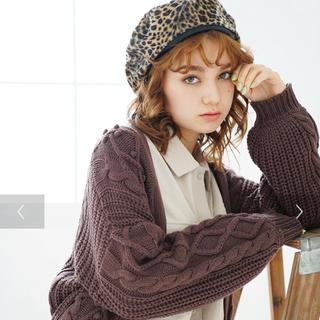 イーハイフンワールドギャラリー(E hyphen world gallery)の新品 レオパード 柄 ベレー帽(ハンチング/ベレー帽)
