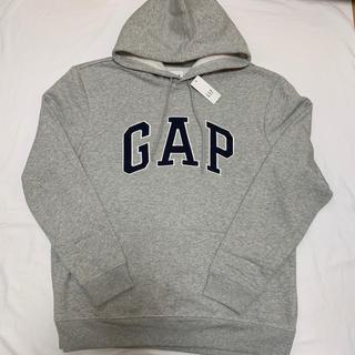 ギャップ(GAP)の新品 定価4900円 ギャップ 裏起毛 ロゴ入り パーカー L メンズ(パーカー)
