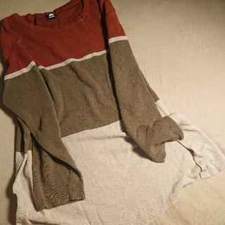 merlot - ボーダー セーター 長袖 薄手