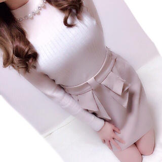 allamanda - リボンタイトスカート