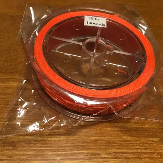 【送料無料】 フライフィッシング用バッキングライン赤20Ibs 100yard  スポーツ/アウトドアのフィッシング(釣り糸/ライン)の商品写真
