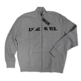 ディーゼル(DIESEL)の新品 DIESEL ロゴ スウェット トップス トレーナー 杢グレー Lサイズ(スウェット)