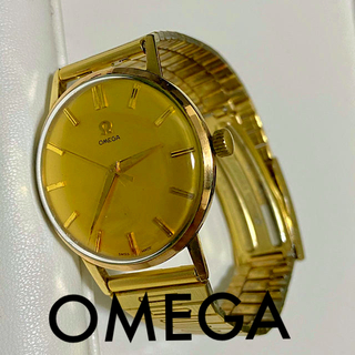 OMEGA - 【激レア】OMEGA アンティーク 手巻き 稼働品 ゴールド メンズ