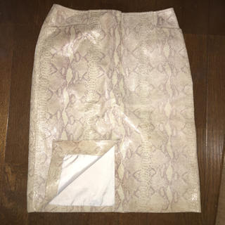 Ameri VINTAGE - vintage パイソン レザースカート タイトスカート