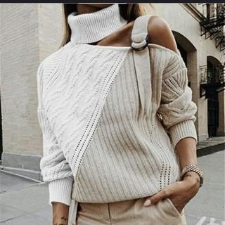 ザラ(ZARA)の大人ファッション バックルオフショルダー 大きいサイズあり(ニット/セーター)